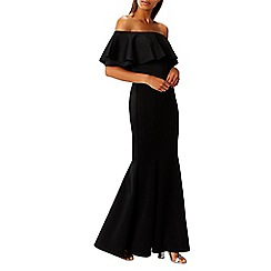 Coast - Black scuba 'Chloe' bardot maxi dress
