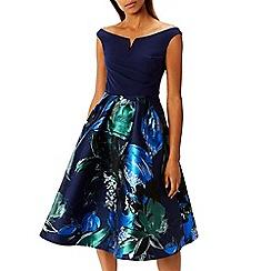 Coast - Multi jacquard floral print 'Hamal' bardot fit and flare dress