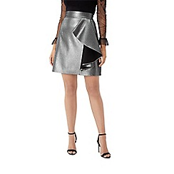 Coast - Gunmetal metallic 'Beth' short a-line skirt