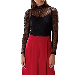 Coast - Black lace 'Finn' high neck long sleeved top