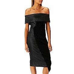 Coast - Debenhams Exclusive - Black 'Lou lou' bardot shift dress