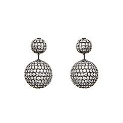 Coast - Gunmetal sparkle 'Anouskha' earrings