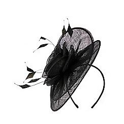 Coast - Black 'Jeanne' feather fascinator