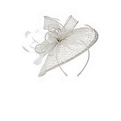Coast - Silver 'Avril' embellished feather fascinator