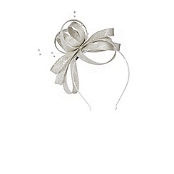 Coast - Silver ' Adalyn' knot design fascinator