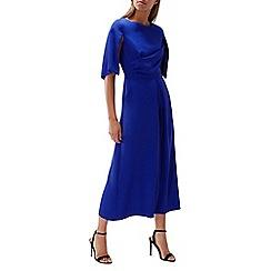 Coast - Cobalt 'Savanna' round neck cape sleeved culotte jumpsuit