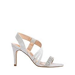 Coast - Silver 'Heidi' glitter strappy sandal