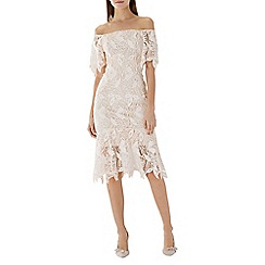 Coast - Natural lace 'Tayna' bardot shift dress
