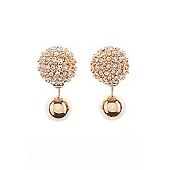 Coast - Rose Gold 'Aliah' sparkle stud earrings