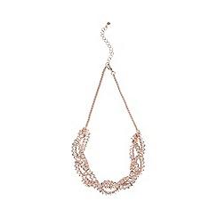 Coast - Rose gold 'Kiona' twist gem necklace