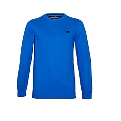 Raging Bull - Cotton/Cashmere Crew Neck Cobalt