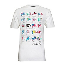 Raging Bull - World Cup Flags T-Shirt - Off White