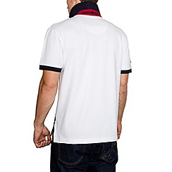 Raging Bull - Diagonal Stripe Pique Polo White