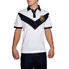 Raging Bull - Chevron Pique Polo White