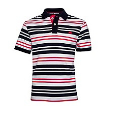 Raging Bull - Varied Stripe Jersey Polo - Vivid Pink