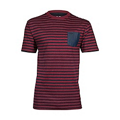 Raging Bull - Chambray pocket striped T-shirt