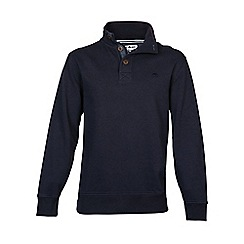 Raging Bull - Button-Up Jersey Sweater Navy