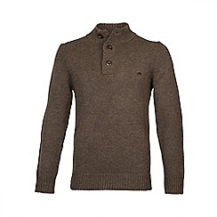 Raging Bull - Button-Up Funnel Neck Chocolate