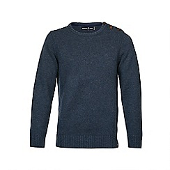 Raging Bull - Button-Up Crew Neck Sweater Navy