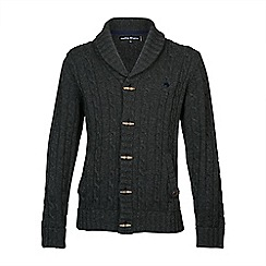 Raging Bull - Shawl Neck Cardigan - Dark Grey