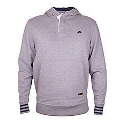 Raging Bull - Rugby Placket Hoody - Dark Grey