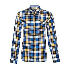 Raging Bull - L/S Medium Check Shirt-Yellow