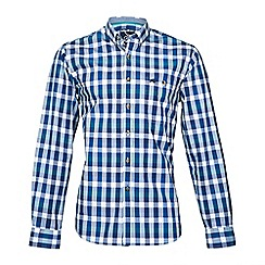 Raging Bull - L/S Peached Check Shirt - Petrol