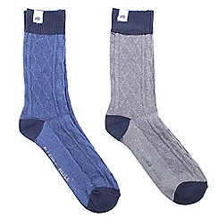 Raging Bull - Walking Sock 2pk Grey/Navy