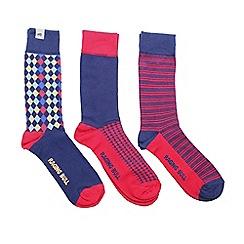 Raging Bull - Cotton Sock 3pk Navy/Red