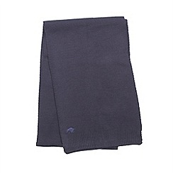 Raging Bull - Plain Knit Scarf - Navy