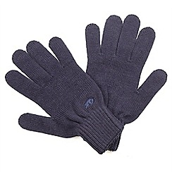 Raging Bull - Plain Knit Gloves - Navy
