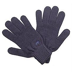 Raging Bull - Plain Knit Gloves - Navy