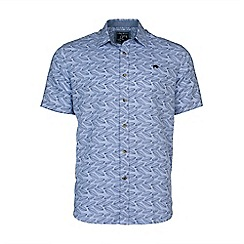 Raging Bull - S/S Leaf Print Linen Shirt