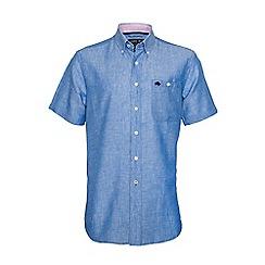 Raging Bull - S/S Plain Linen Shirt