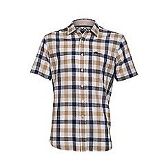 Raging Bull - S/S Check Linen Look Shirt