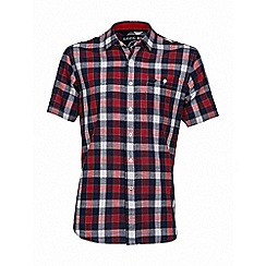 Raging Bull - S/S Check Linen Look Shirt