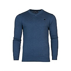 Raging Bull - V-Neck Cotton/Cashmere Sweater