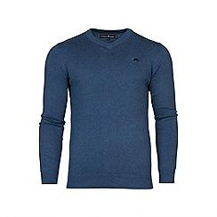 Raging Bull - V-Neck Cotton/Cashmere Sweater