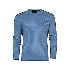 Raging Bull - Crew Neck Cable Knit Sweater