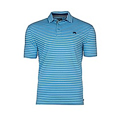 Raging Bull - Pin Stripe Polo - Sky Blue