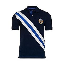 Raging Bull - Diagonal stripe pique polo shirt