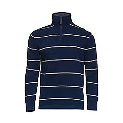 Raging Bull - Stripe Jersey Quarter Zip Sweater