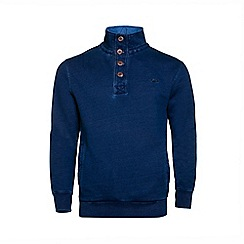 Raging Bull - Indigo Funnel Neck Sweater