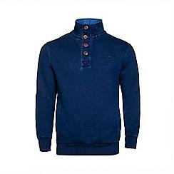 Raging Bull - Indigo Funnel Neck Sweater