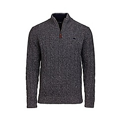Raging Bull - Signature cotton and cashmere quarter zip jumper
