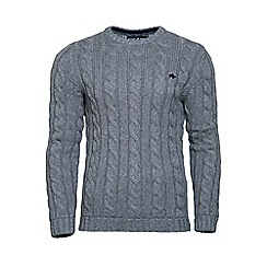 Raging Bull - Heavy cable crew neck sweater