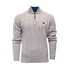 Raging Bull - Cable knit quarter zip