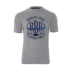 Raging Bull - Horns T/Shirt - Grey