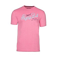 Raging Bull - Pink original RB appliqué tee