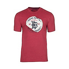 Raging Bull - Red monogram appliqué tee